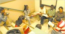 Students discuss their reading in a breakout group during one of the seminar lecture sessions.