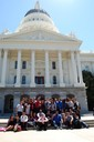 In front of state capitol