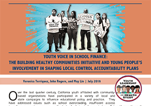 Youth Voice in School Finance